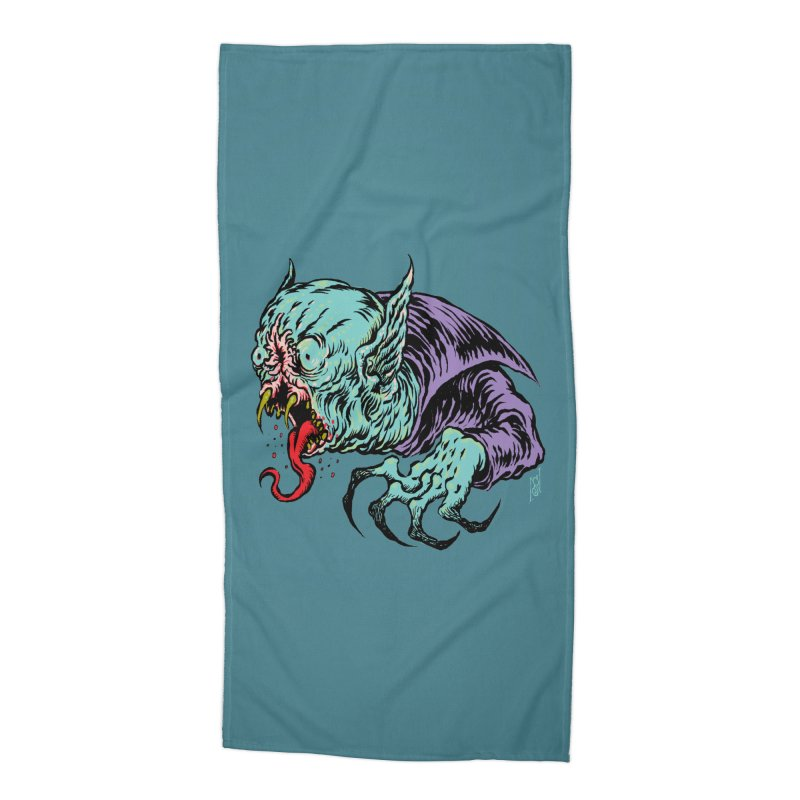 Savage Vampire Accessories Beach Towel by Nick the Hat