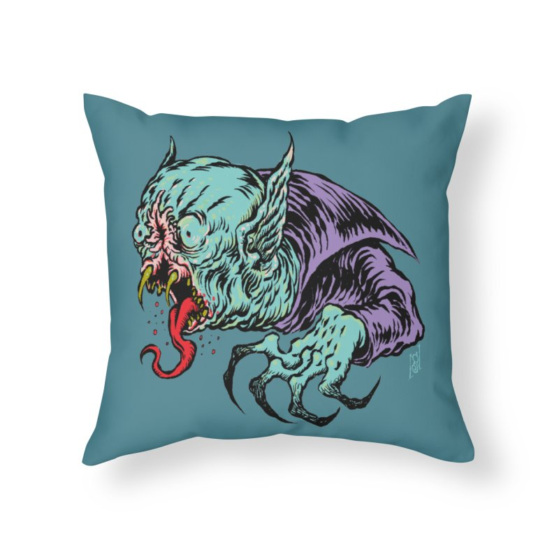Savage Vampire Home Throw Pillow by Nick the Hat