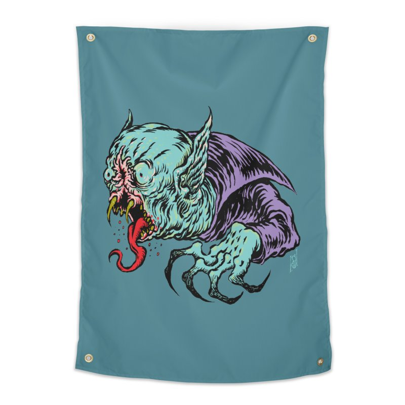 Savage Vampire Home Tapestry by Nick the Hat