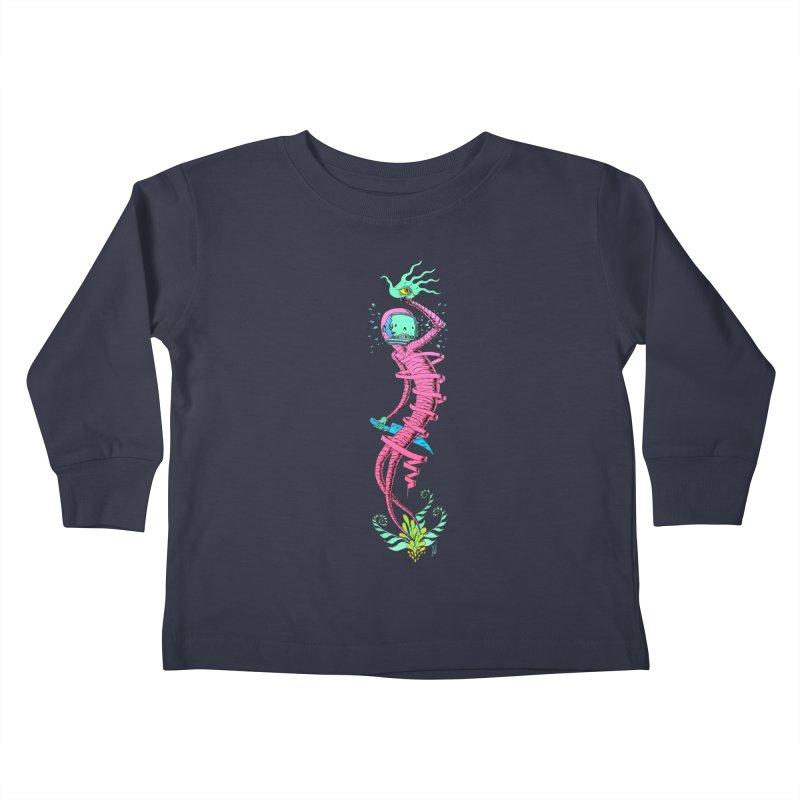 Cosmic Paradigm Traveler Kids Toddler Longsleeve T-Shirt by Nick the Hat