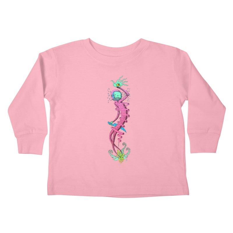 Cosmic Paradigm Traveler Kids Toddler Longsleeve T-Shirt by Nick the Hat