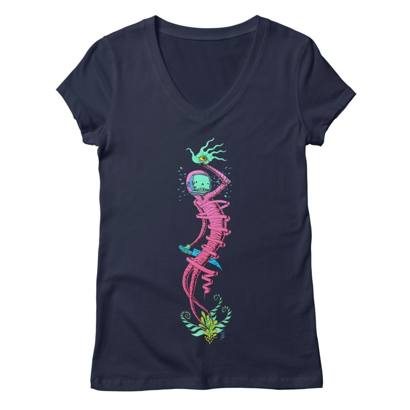 Cosmic Paradigm Traveler Women's Regular V-Neck by Nick the Hat