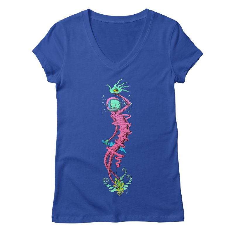 Cosmic Paradigm Traveler Women's V-Neck by Nick the Hat