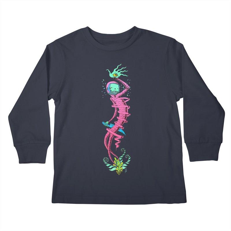 Cosmic Paradigm Traveler Kids Longsleeve T-Shirt by Nick the Hat