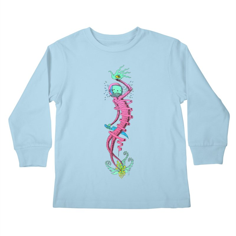 Cosmic Paradigm Traveler Kids Longsleeve T-Shirt by Nick the Hat