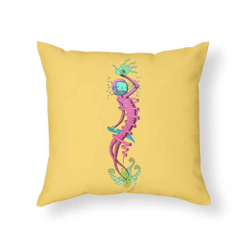 Cosmic Paradigm Traveler Home Throw Pillow by Nick the Hat