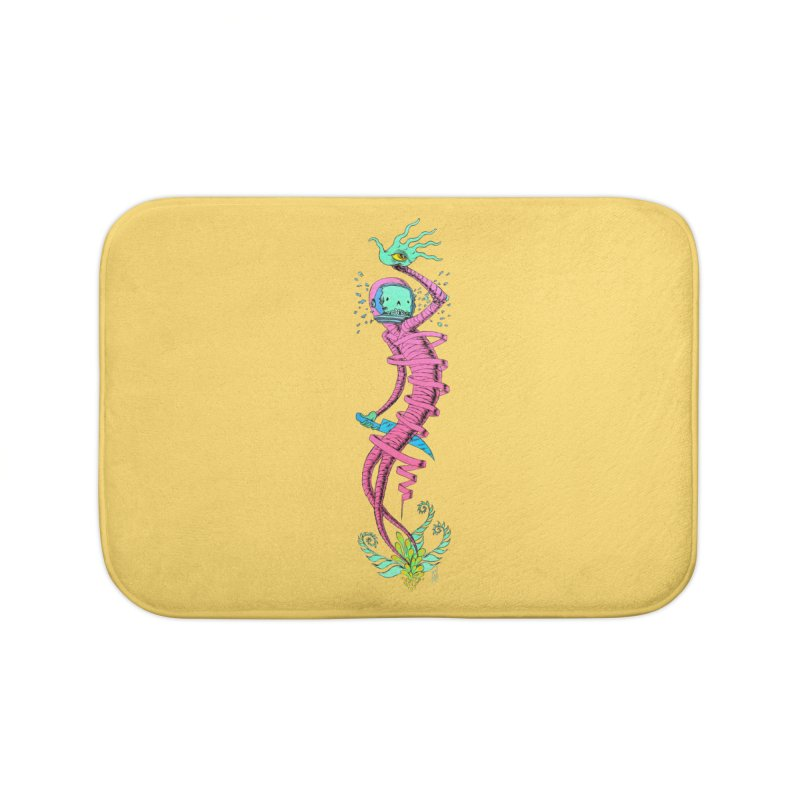 Cosmic Paradigm Traveler Home Bath Mat by Nick the Hat