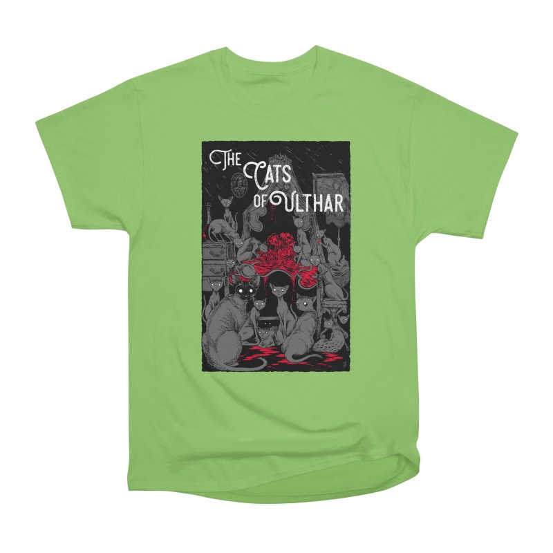 The Cats of Ulthar Men's Heavyweight T-Shirt by Nick the Hat