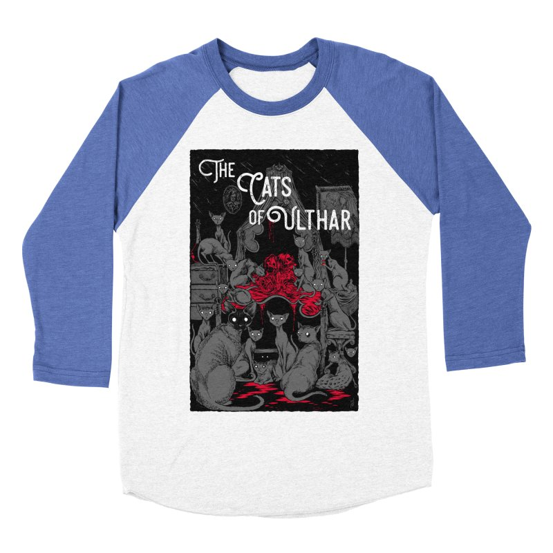 The Cats of Ulthar Men's Baseball Triblend Longsleeve T-Shirt by Nick the Hat