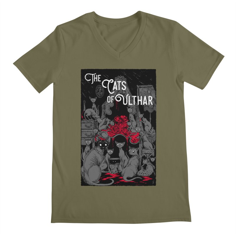 The Cats of Ulthar Men's Regular V-Neck by Nick the Hat