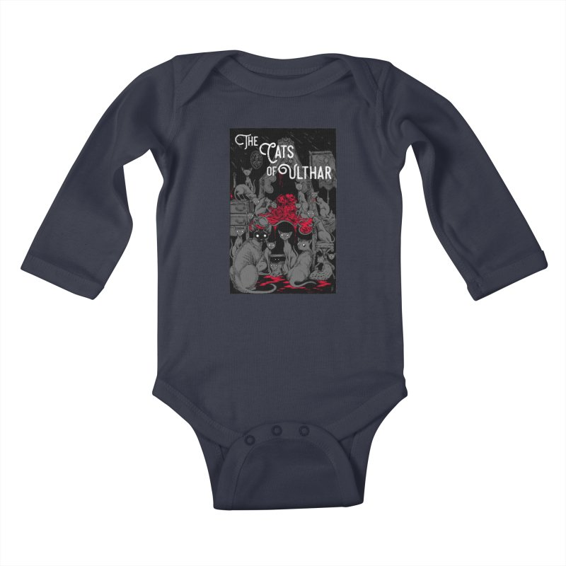 The Cats of Ulthar Kids Baby Longsleeve Bodysuit by Nick the Hat