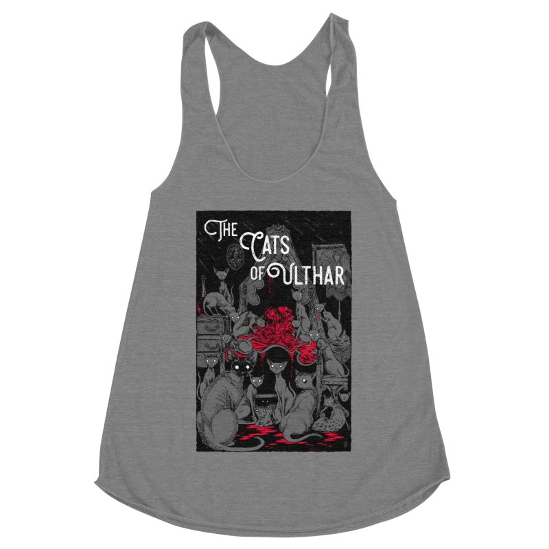 The Cats of Ulthar Women's Racerback Triblend Tank by Nick the Hat