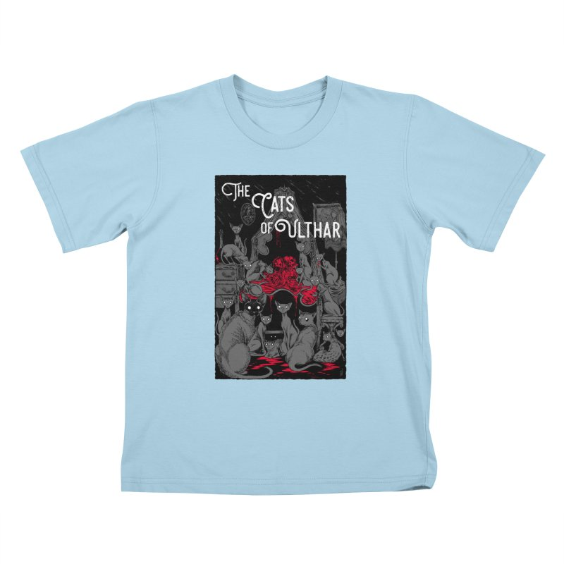The Cats of Ulthar Kids T-Shirt by Nick the Hat