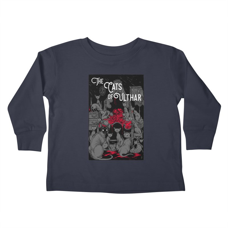 The Cats of Ulthar Kids Toddler Longsleeve T-Shirt by Nick the Hat
