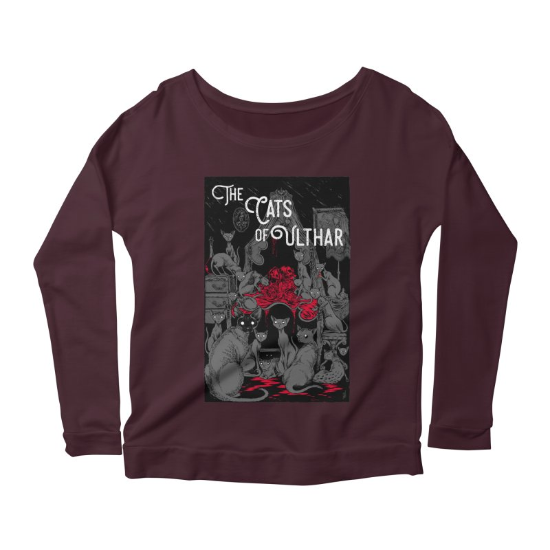 The Cats of Ulthar Women's Scoop Neck Longsleeve T-Shirt by Nick the Hat