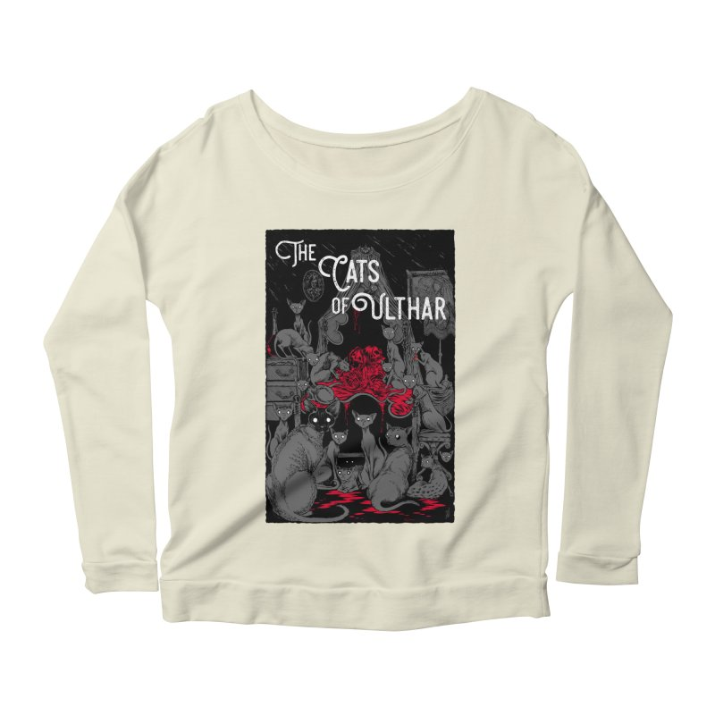 The Cats of Ulthar Women's Longsleeve Scoopneck  by Nick the Hat