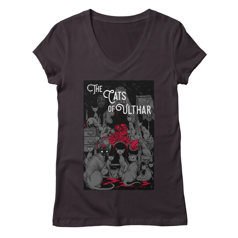 The Cats of Ulthar Women's V-Neck by Nick the Hat