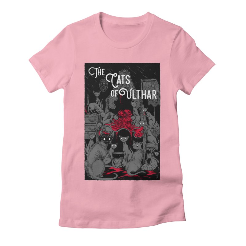The Cats of Ulthar Women's Fitted T-Shirt by Nick the Hat