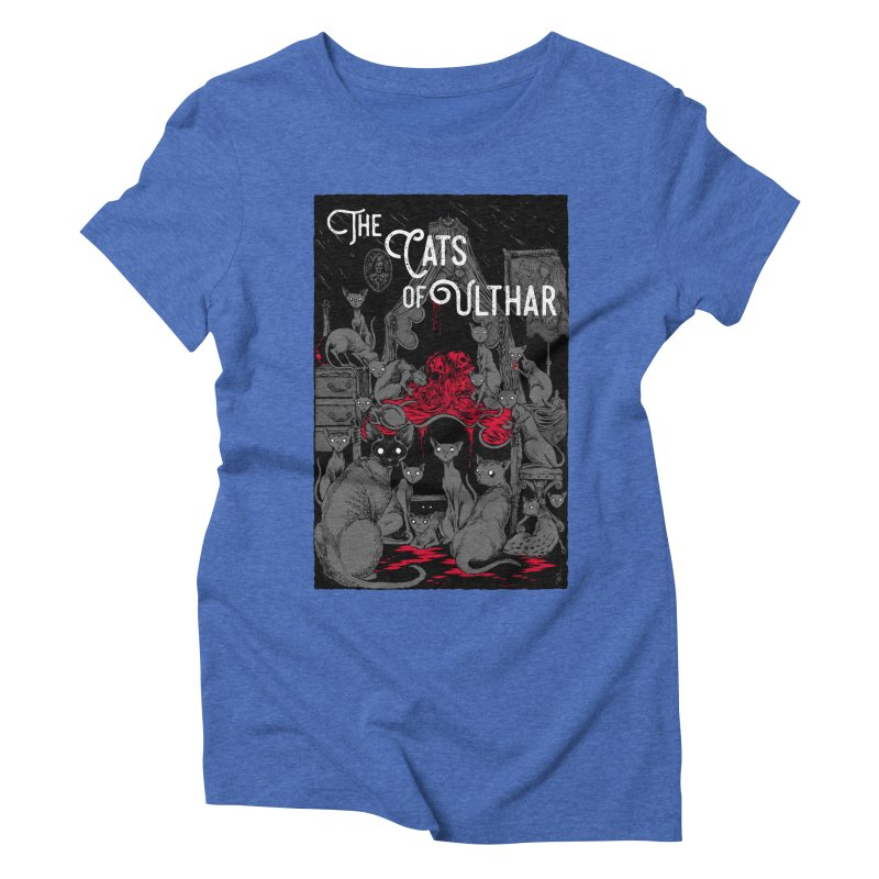The Cats of Ulthar Women's Triblend T-Shirt by Nick the Hat