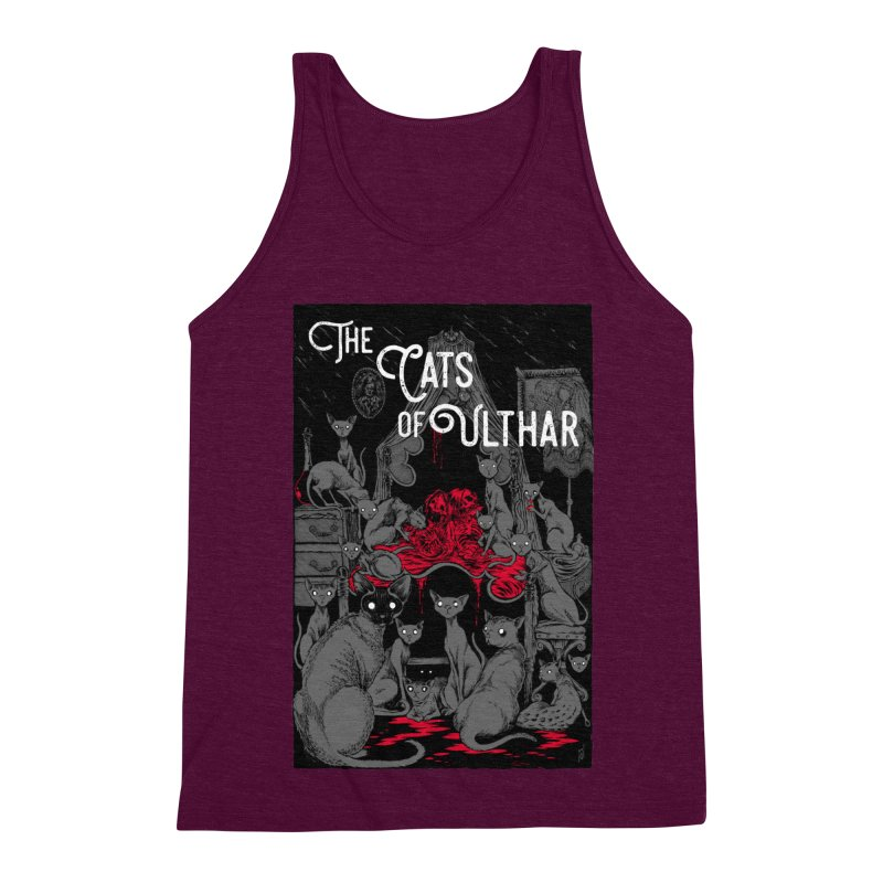 The Cats of Ulthar Men's Triblend Tank by Nick the Hat