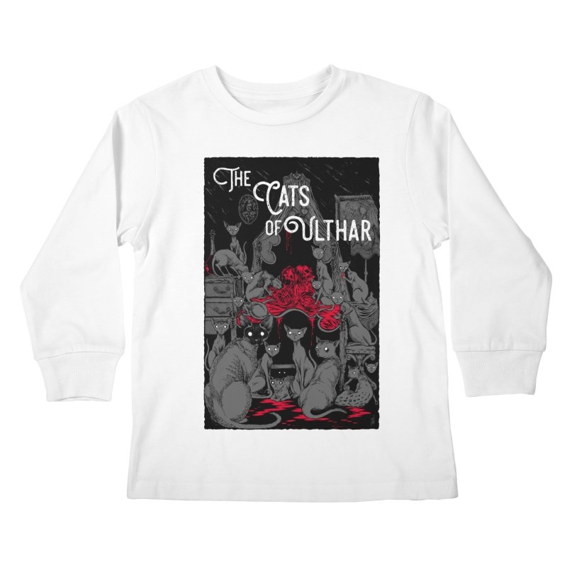 The Cats of Ulthar Kids Longsleeve T-Shirt by Nick the Hat
