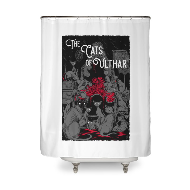 The Cats of Ulthar Home Shower Curtain by Nick the Hat
