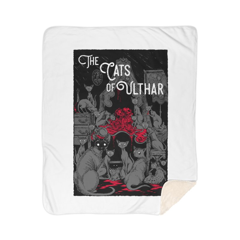 The Cats of Ulthar Home Sherpa Blanket Blanket by Nick the Hat