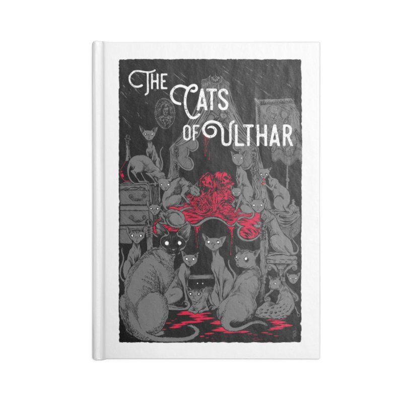 The Cats of Ulthar Accessories Lined Journal Notebook by Nick the Hat