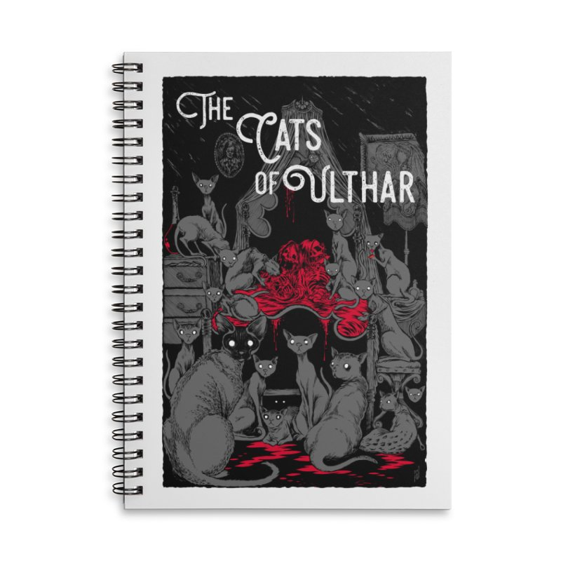 The Cats of Ulthar Accessories Lined Spiral Notebook by Nick the Hat