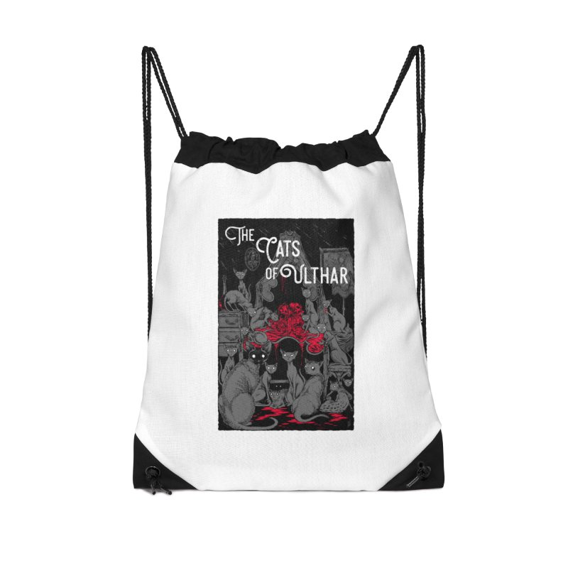 The Cats of Ulthar Accessories Drawstring Bag Bag by Nick the Hat