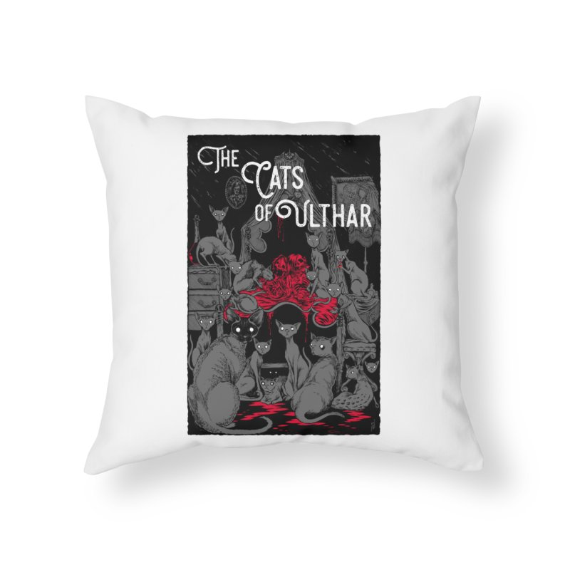 The Cats of Ulthar Home Throw Pillow by Nick the Hat
