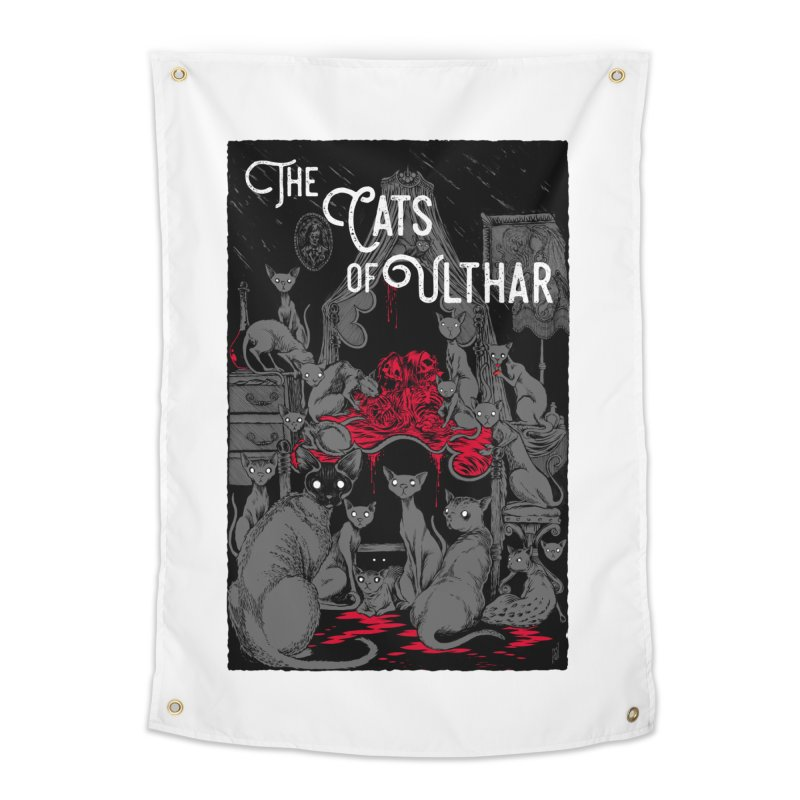 The Cats of Ulthar Home Tapestry by Nick the Hat
