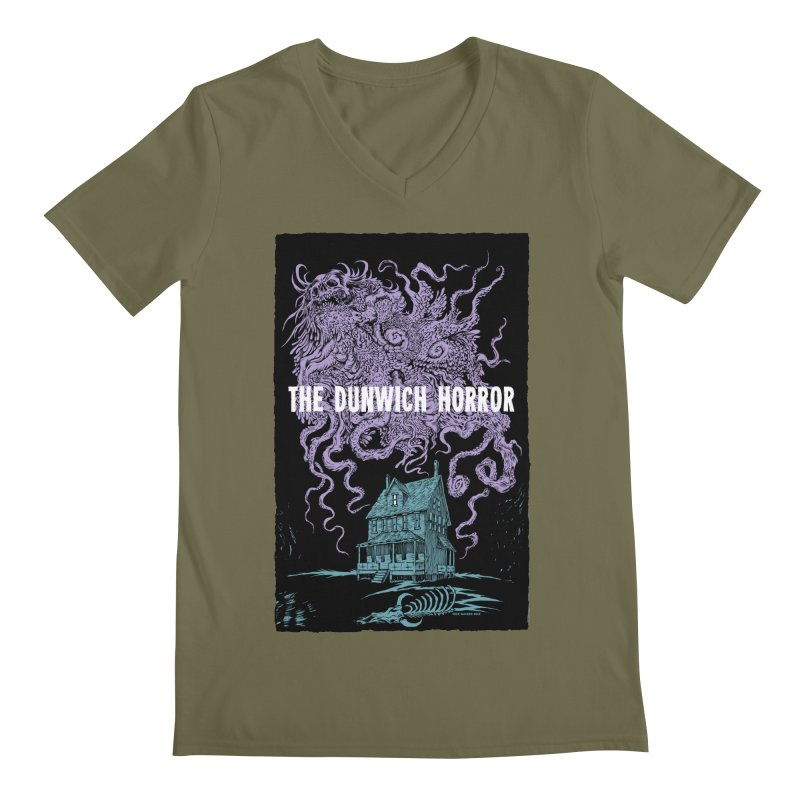 The Dunwich Horror Men's V-Neck by Nick the Hat