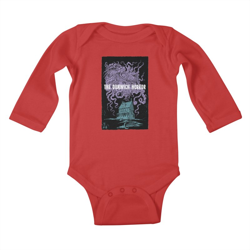 The Dunwich Horror Kids Baby Longsleeve Bodysuit by Nick the Hat