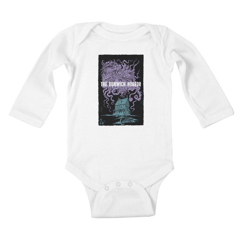 The Dunwich Horror Kids Baby Longsleeve Bodysuit by Nick the Hat