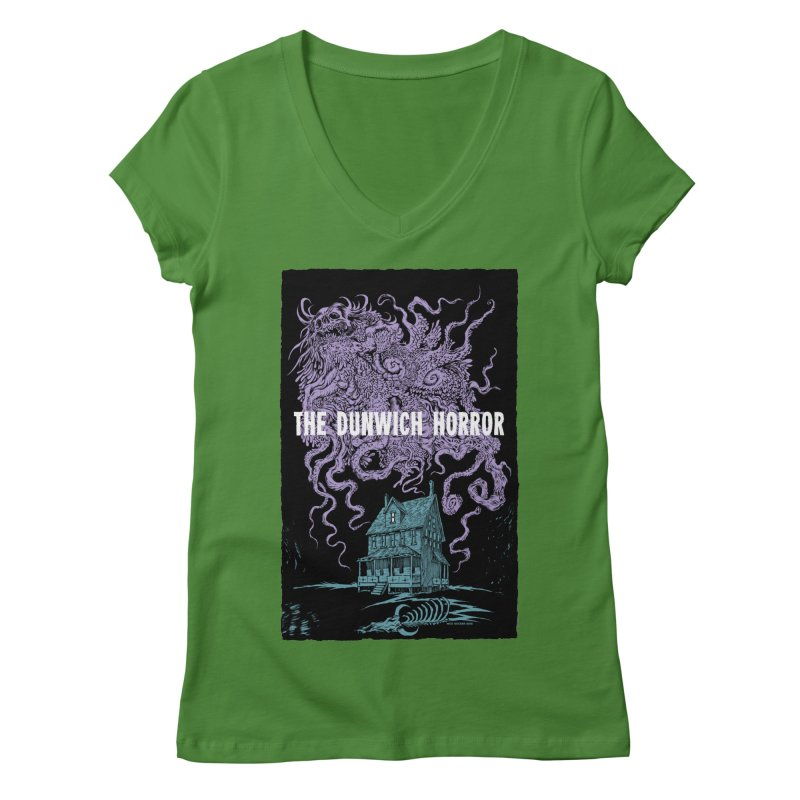 The Dunwich Horror Women's Regular V-Neck by Nick the Hat