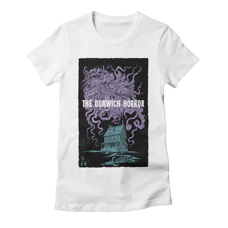 The Dunwich Horror Women's Fitted T-Shirt by Nick the Hat