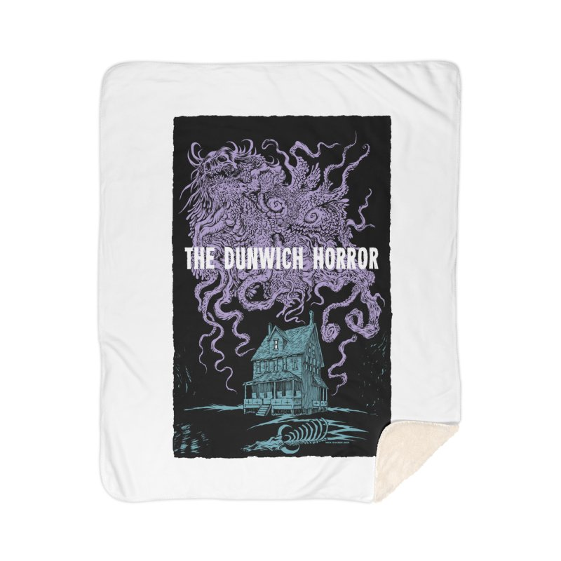 The Dunwich Horror Home Sherpa Blanket Blanket by Nick the Hat
