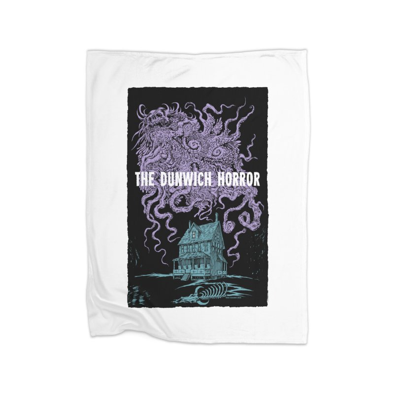 The Dunwich Horror Home Fleece Blanket Blanket by Nick the Hat
