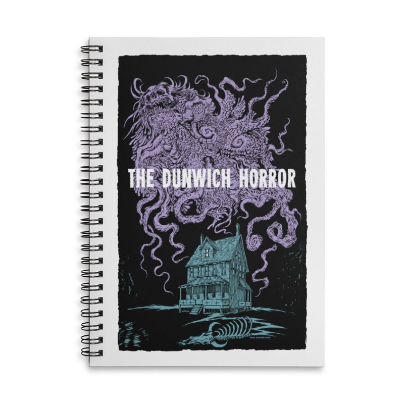 The Dunwich Horror Accessories Lined Spiral Notebook by Nick the Hat