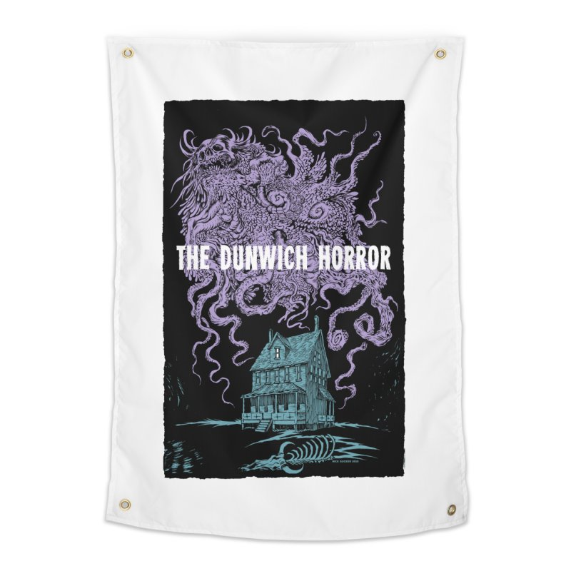 The Dunwich Horror Home Tapestry by Nick the Hat