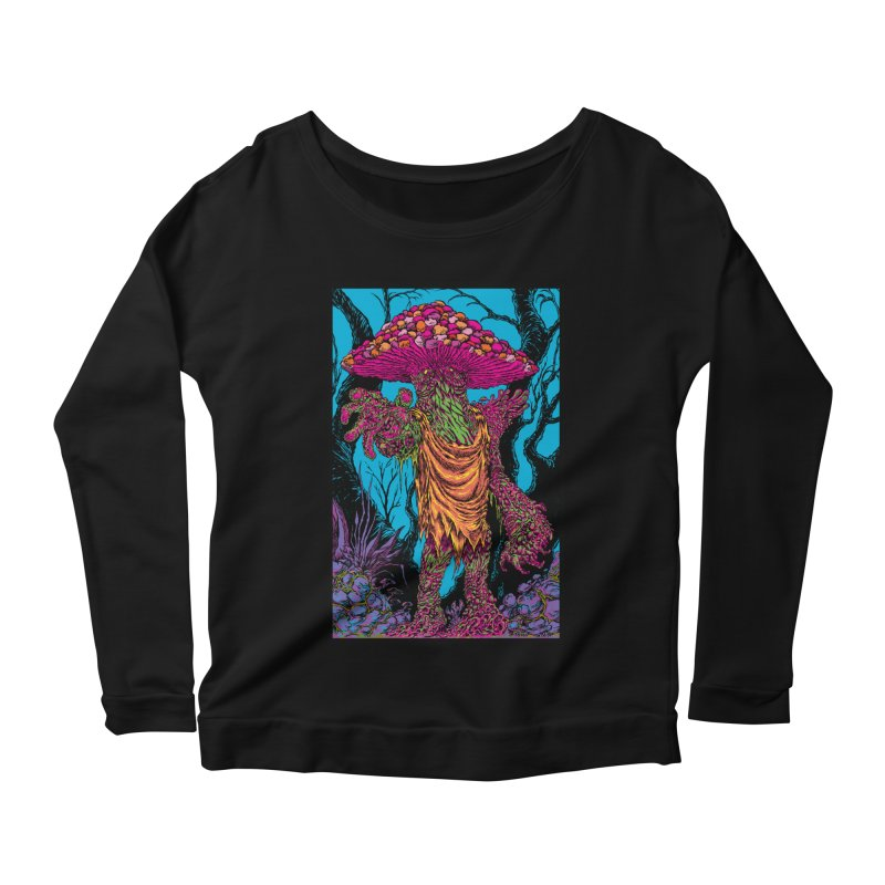 MATANGO  Women's Scoop Neck Longsleeve T-Shirt by Nick the Hat