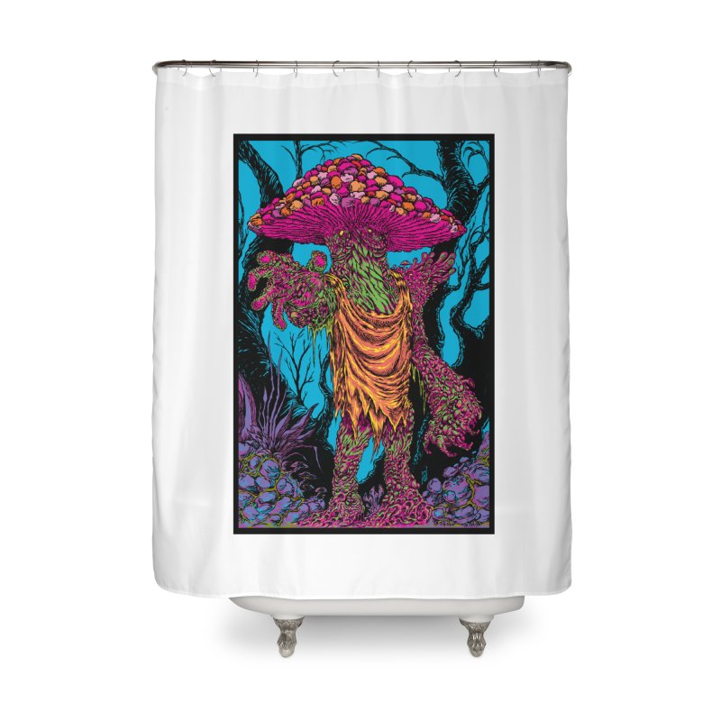 MATANGO  Home Shower Curtain by Nick the Hat