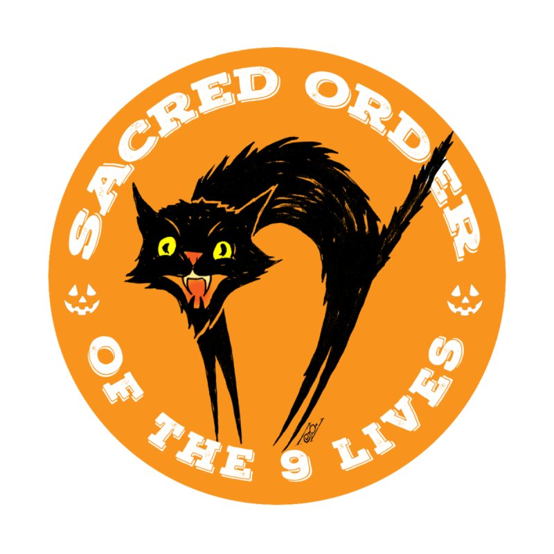 Sacred Order of the 9 Lives Accessories Zip Pouch by Nick the Hat
