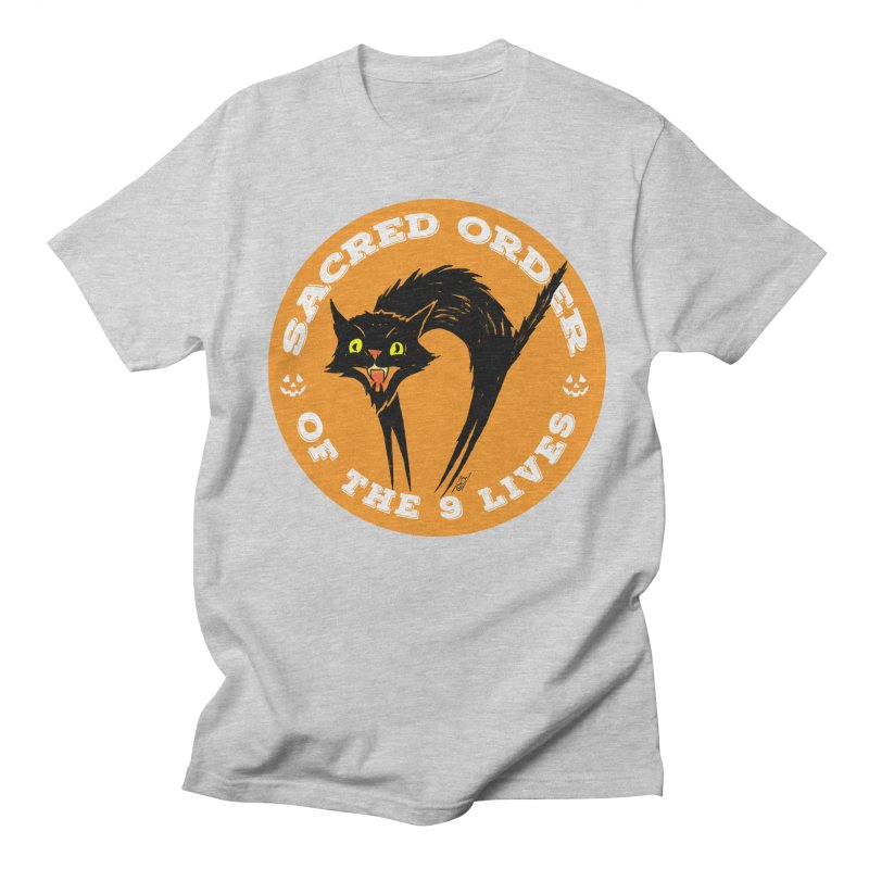 Sacred Order of the 9 Lives Men's T-Shirt by Nick the Hat