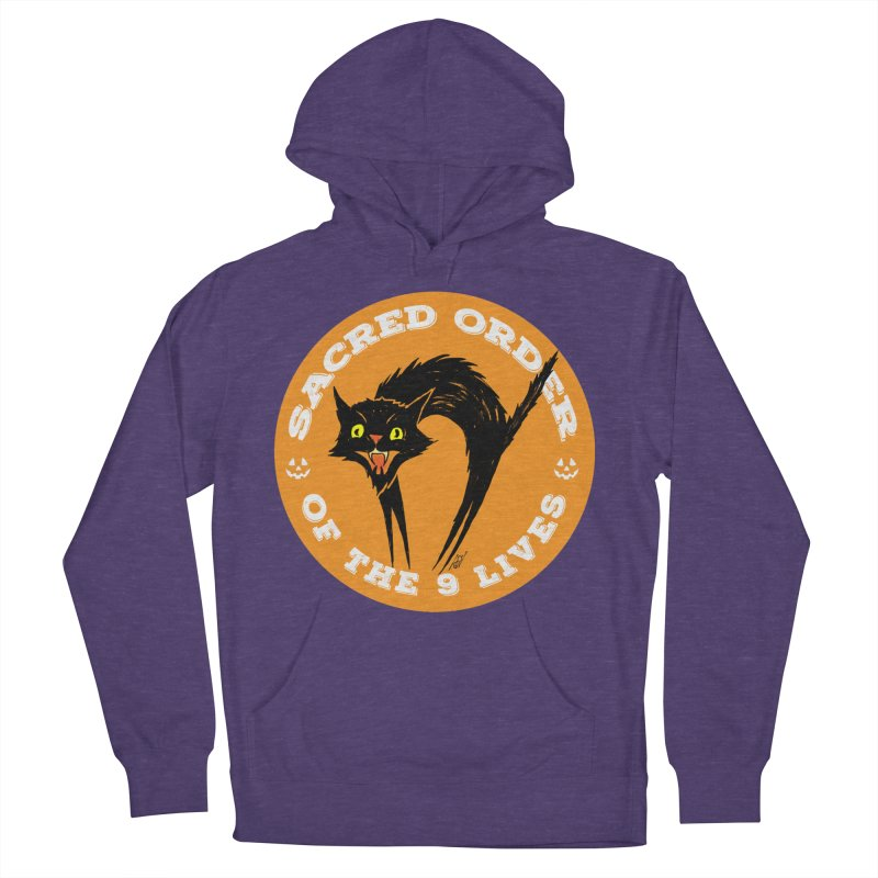 Sacred Order of the 9 Lives Women's French Terry Pullover Hoody by Nick the Hat