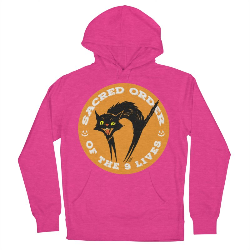 Sacred Order of the 9 Lives Men's French Terry Pullover Hoody by Nick the Hat