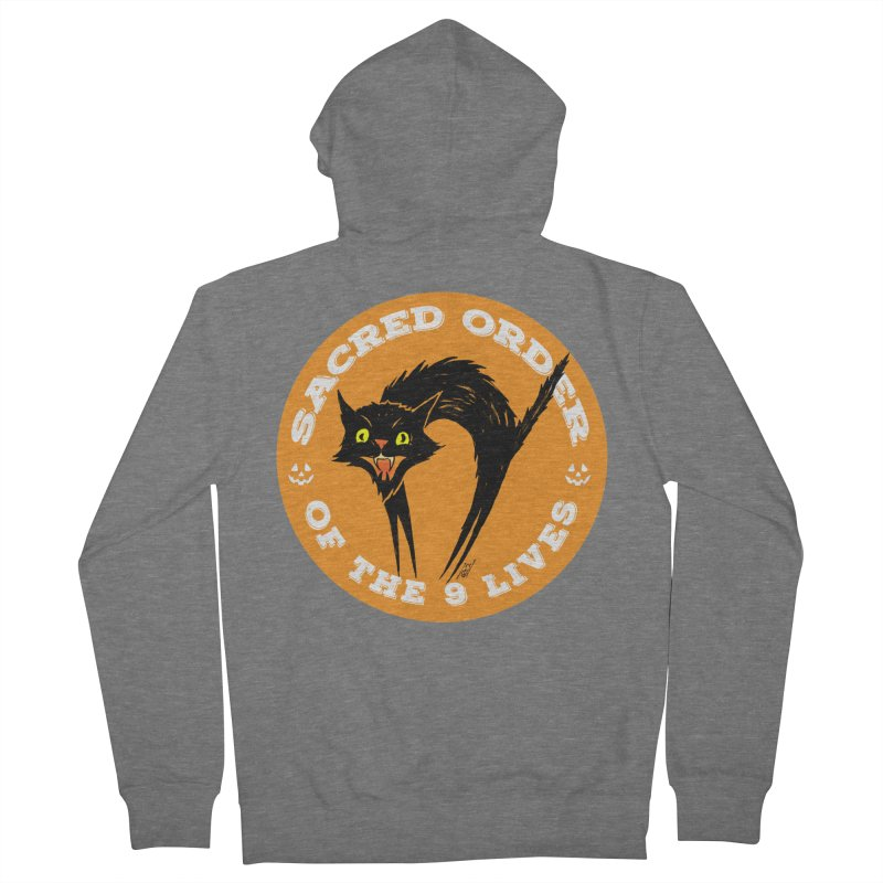 Sacred Order of the 9 Lives Women's Zip-Up Hoody by Nick the Hat