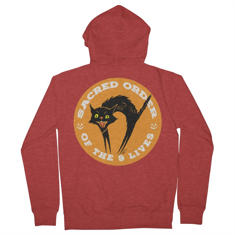Sacred Order of the 9 Lives Women's French Terry Zip-Up Hoody by Nick the Hat
