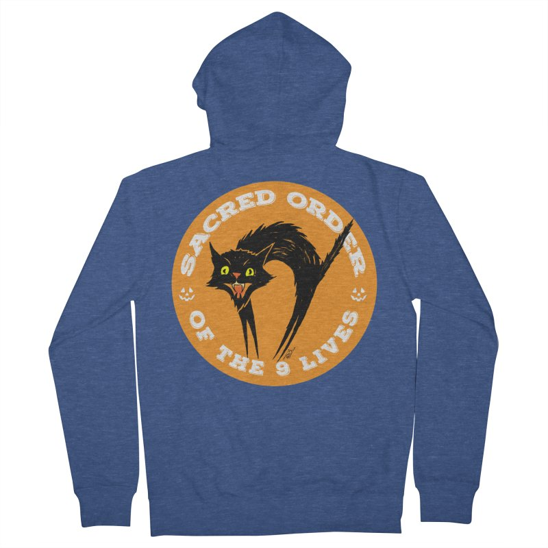 Sacred Order of the 9 Lives Men's Zip-Up Hoody by Nick the Hat